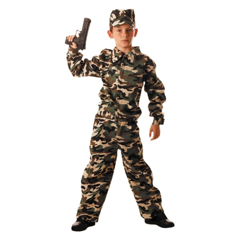 COSTUME MILITAIRE 7 A 9 ANS