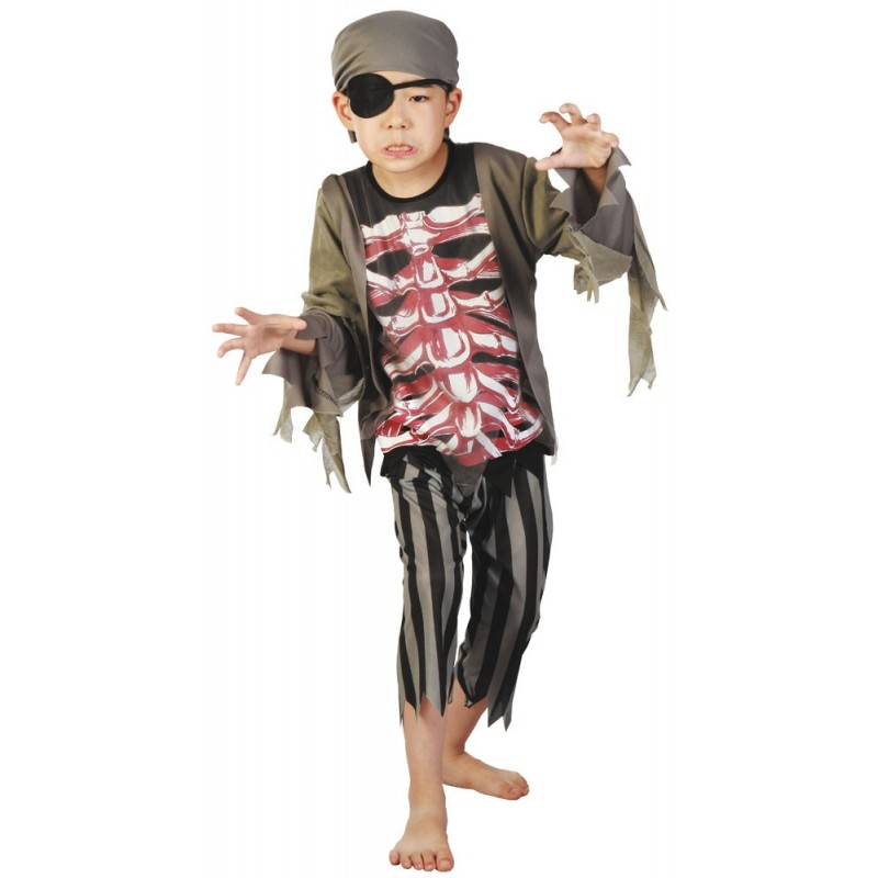 DEGUISEMENT PIRATE ZOMBIE 4 A 6 ANS