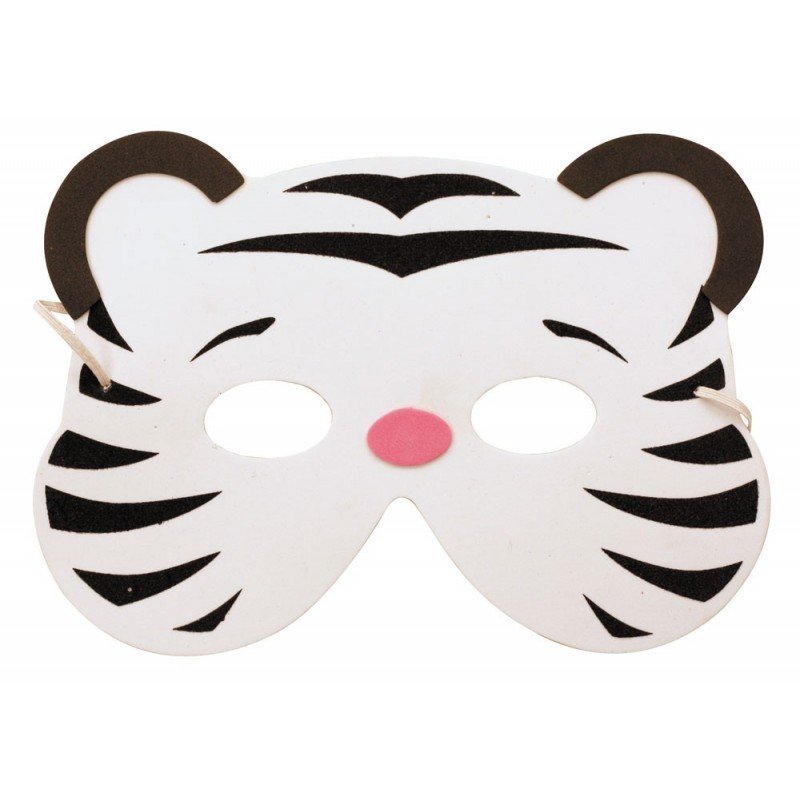 Masque enfant tigre blanc EVA