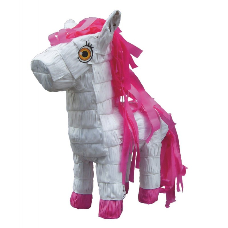 PINATA PONEY BLANC ET ROSE