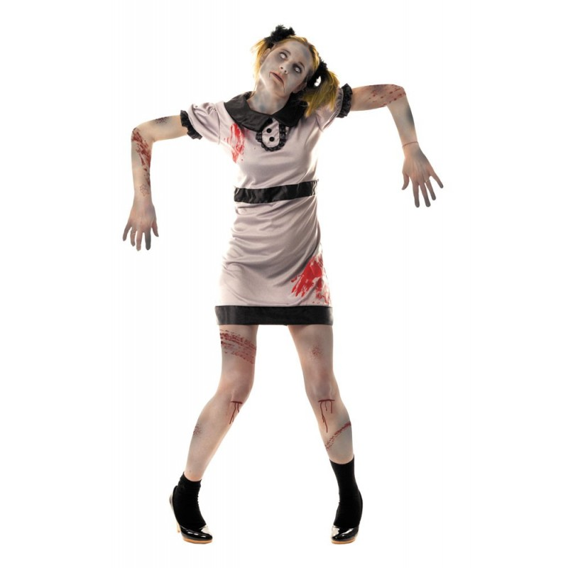 COSTUME ECOLIERE ZOMBIE
