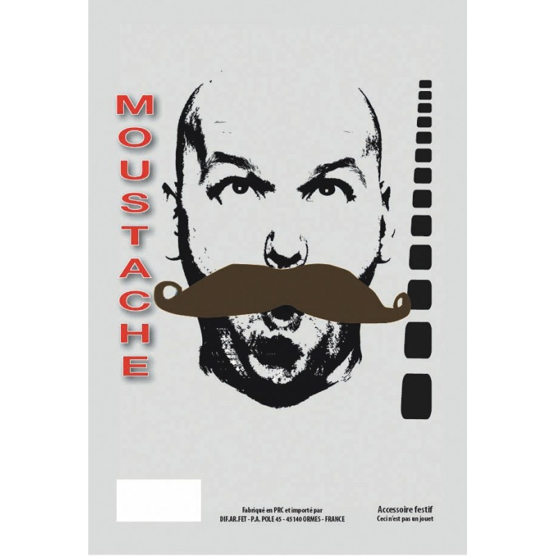 MOUSTACHE GENDARME CHATAIN
