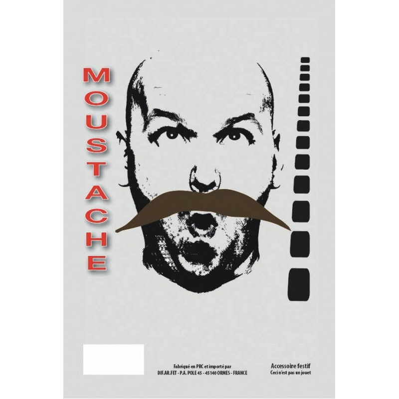 MOUSTACHE BANDIT CHATAIN