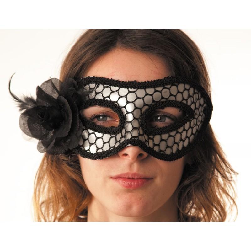 Masque carnaval argent & résille