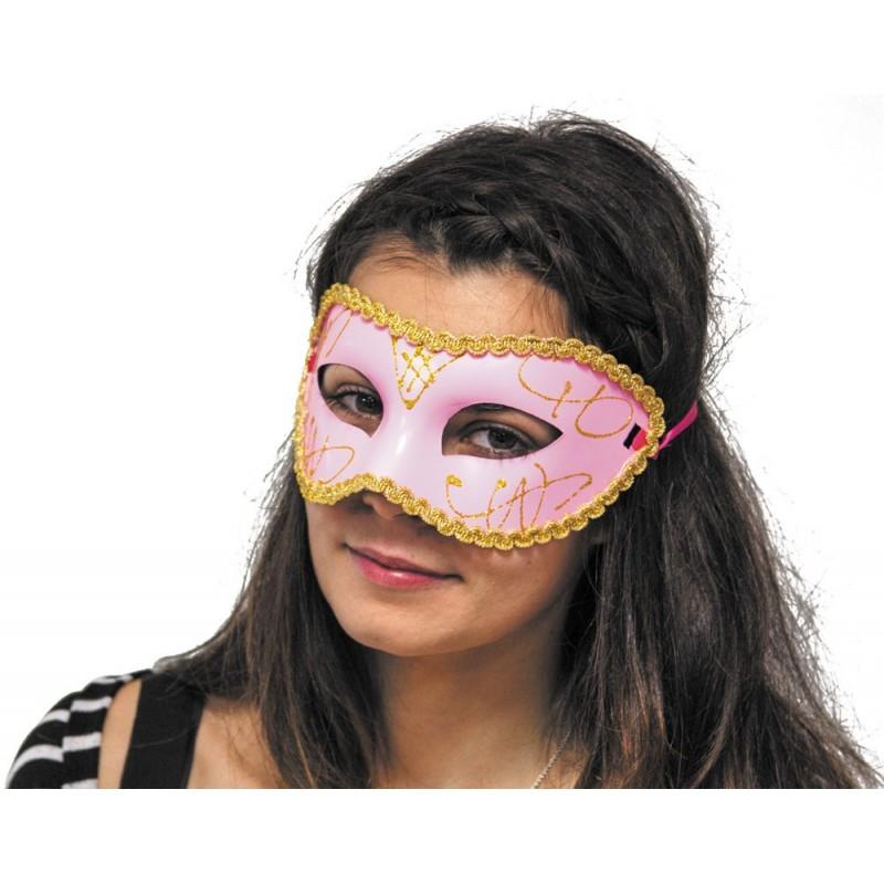 Masque vénitien rose