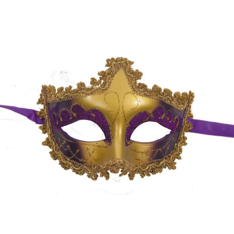 Masque vénitien violet & or