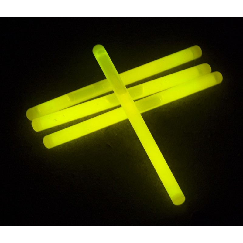 Tube 25 sticks 15x1cm jaune