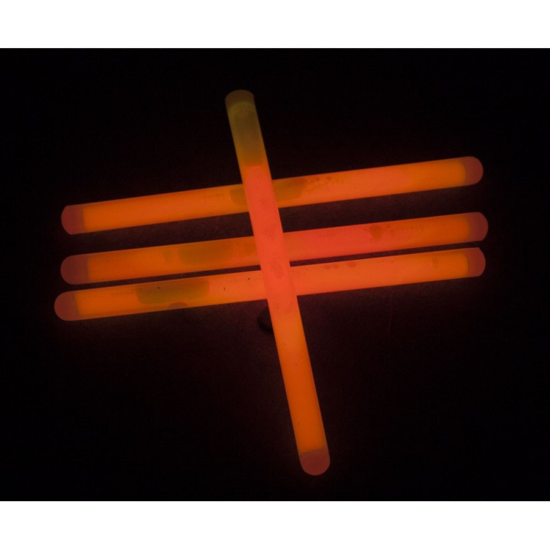 Tube 25 sticks 15x1cm orange