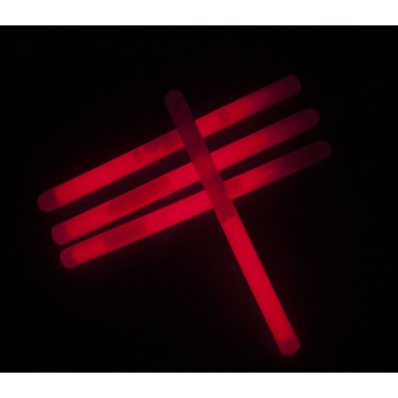 Tube 25 sticks 15x1cm rouge