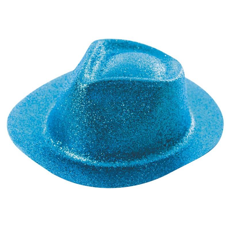 Borsalino paillette bleu clair