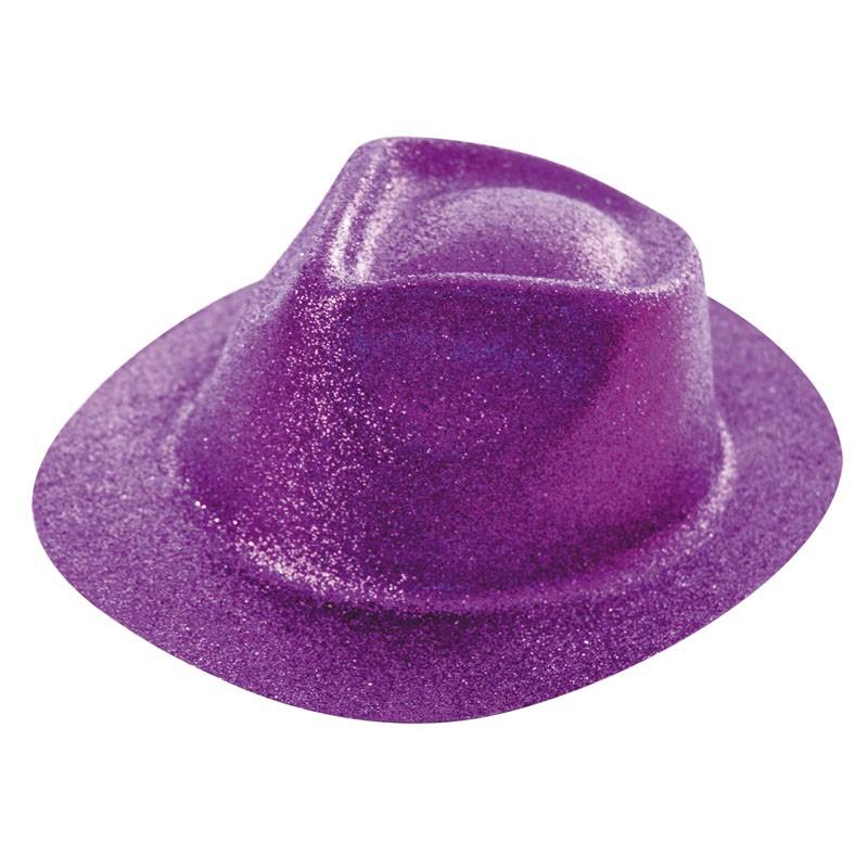Borsalino paillette violet