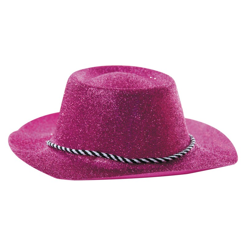 nouvelle saison design intemporel Design moderne Chapeau cowboy paillette rose