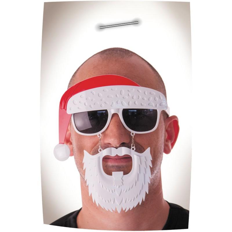 Lunettes bonnet et barbe père noël