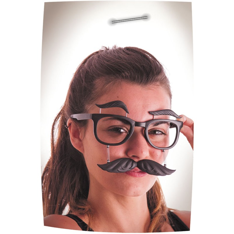Lunettes moustache cils