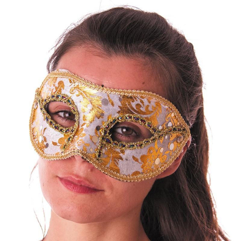 Masque carnaval venise blanc