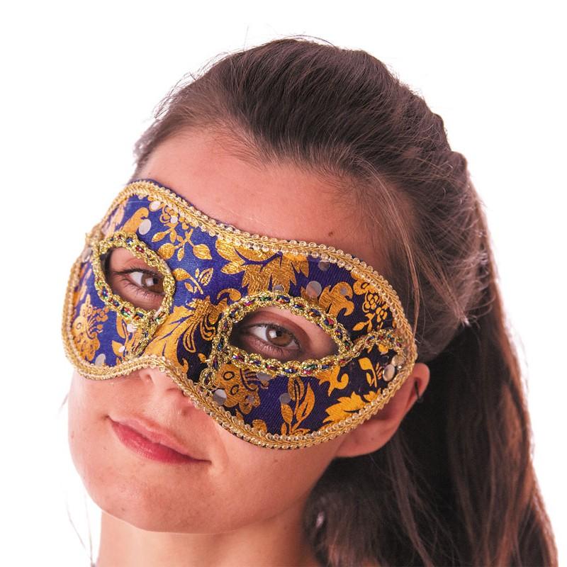 Masque carnaval venise bleu