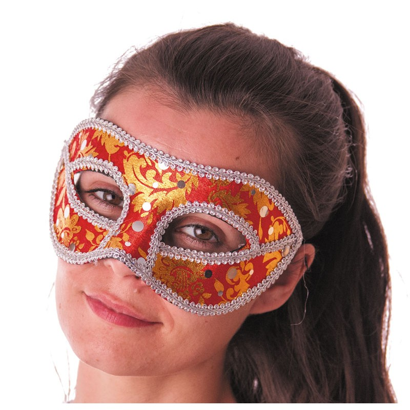Masque carnaval venise rouge
