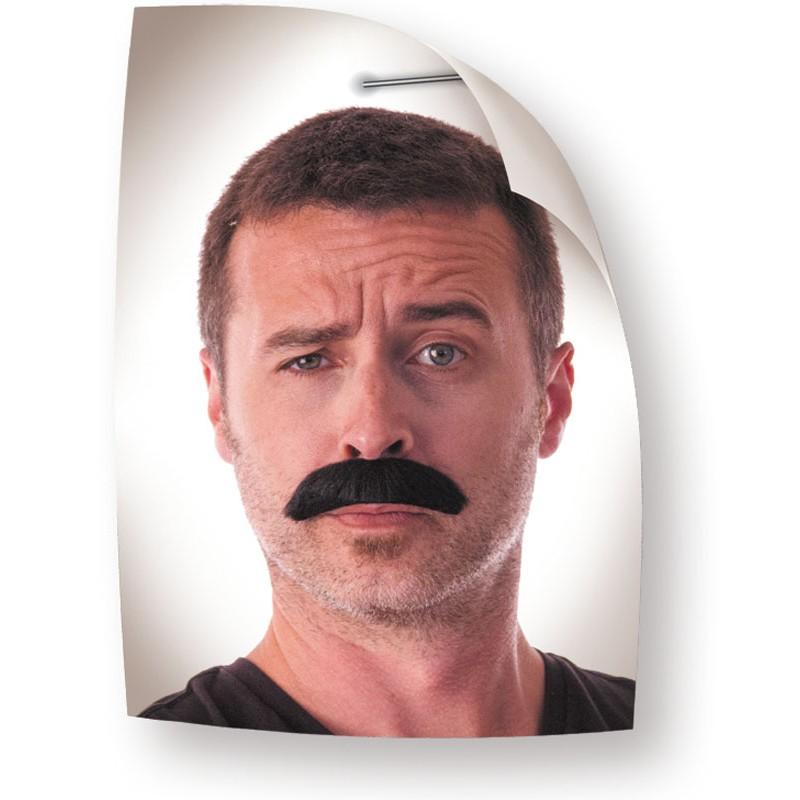Moustache dupont noire