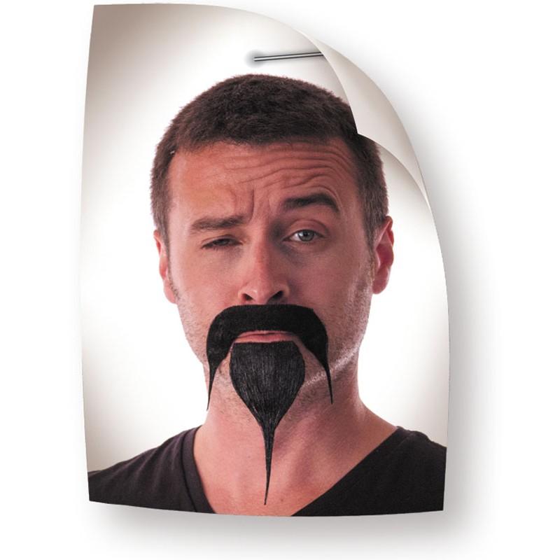 Moustache et bouc samourai noir