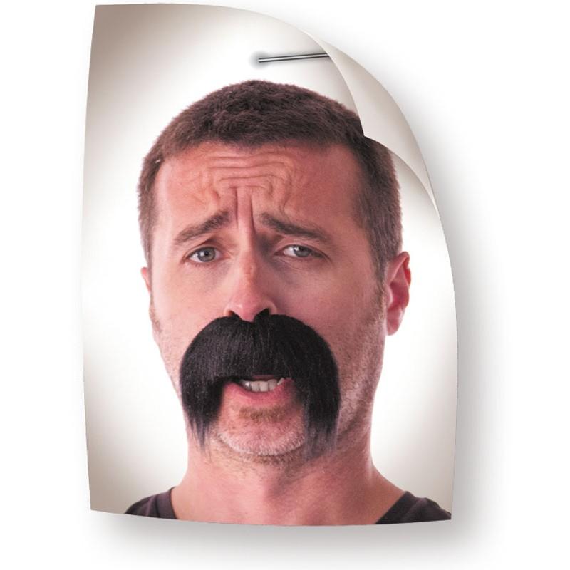 Moustache kéké noire