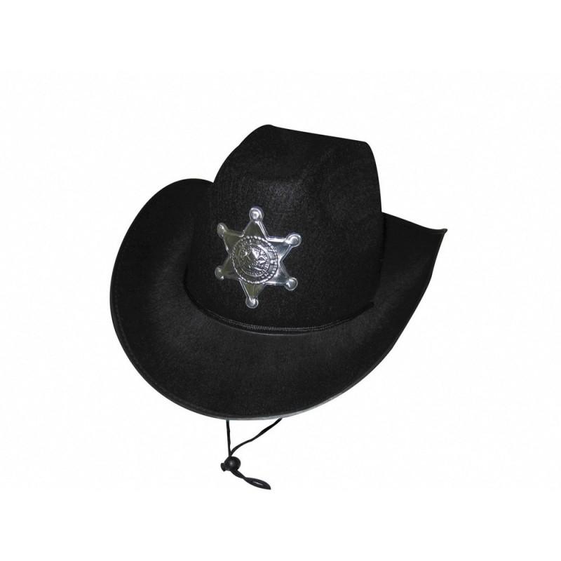 CHAPEAU SHERIF LUXE NOIR