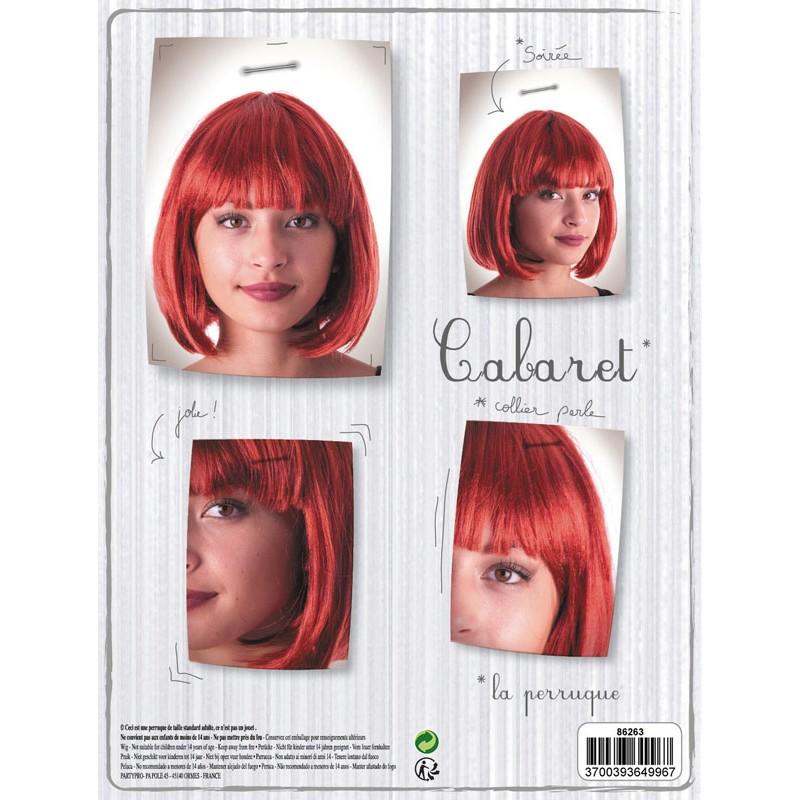 Perruque cabaret rousse