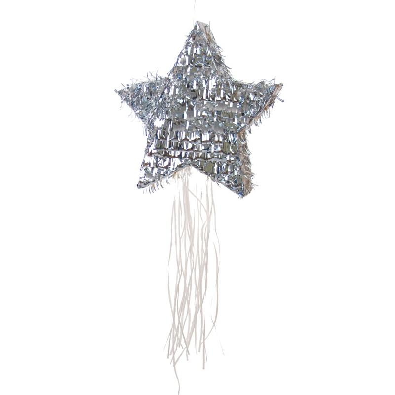 Piñata étoile argent