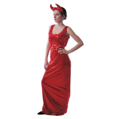Robe glamour sequins rouges