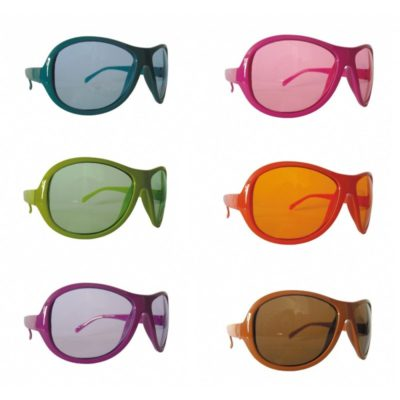 6 LUNETTES FASHION COULEURS ASSORTIES