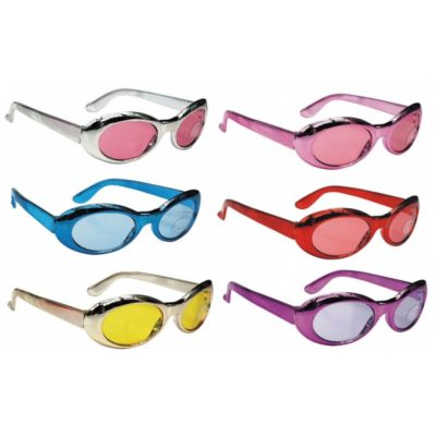 6 LUNETTES METALLISEES COULEURS ASSORTIES