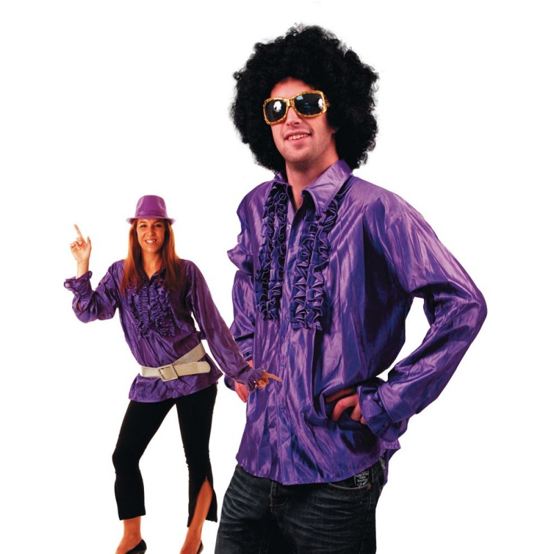 chemise disco violette magasin la f te. Black Bedroom Furniture Sets. Home Design Ideas