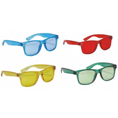 4 LUNETTES INVISIBLE COULEURS ASSORTIES