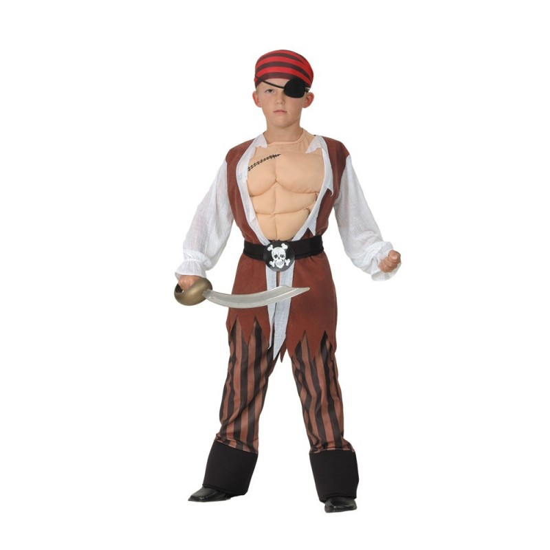 COSTUME PIRATE MUSCLE 4 A 6 ANS