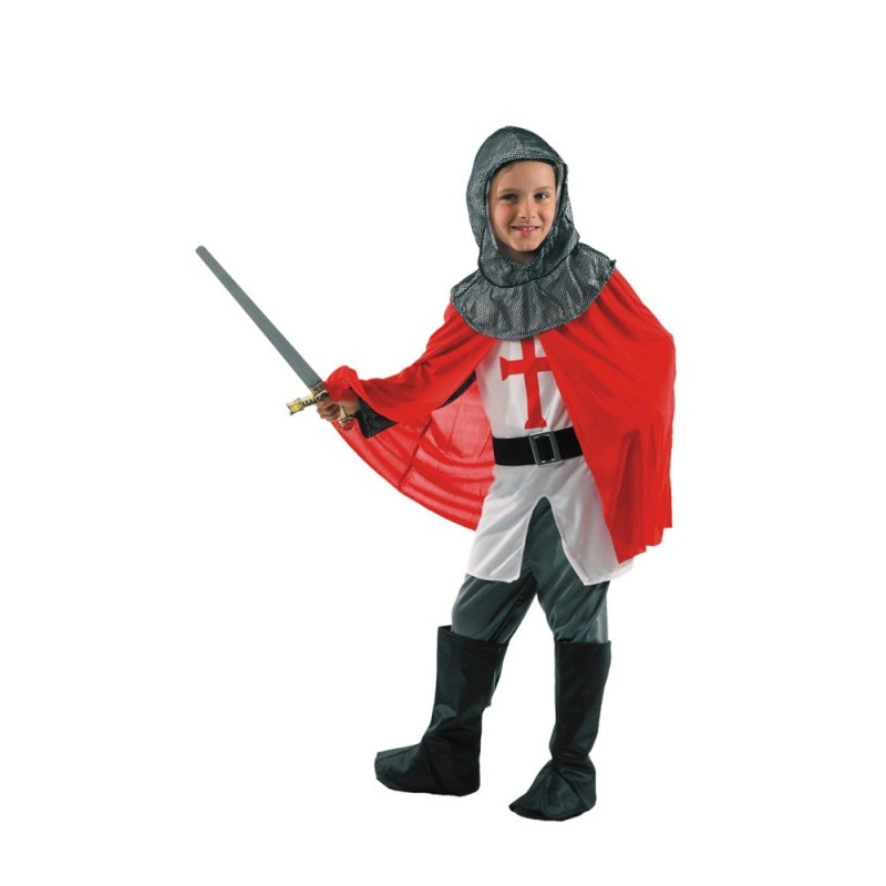 COSTUME CHEVALIER CROISADE 4-6 ANS