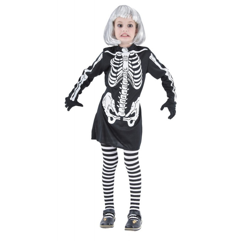 COSTUME SQUELETTE FILLE 4 A 6 ANS