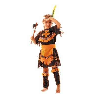 COSTUME APACHE FILLE 4 A 6 ANS
