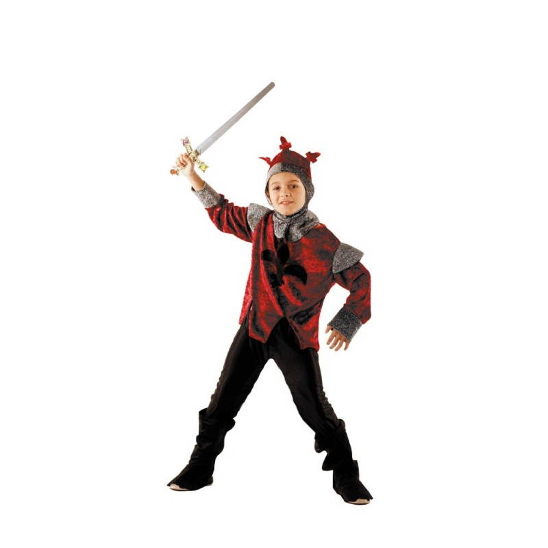 COSTUME CHEVALIER ROUGE 7 A 9 ANS