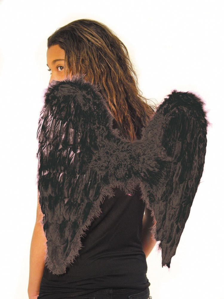 Ailes d'ange noire 50 cm