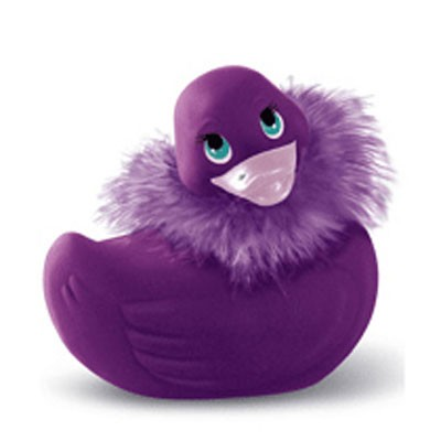 Canard vibro violet avec echarpe