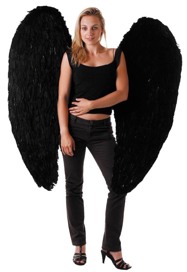 Ailes d'ange noires 120 cm