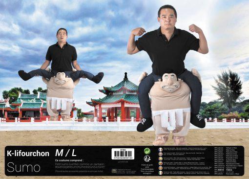 Costume K-Lifourchon sumo adulte